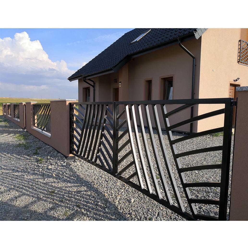 ogrodzenie nowoczesne przęsła brama czarne proste