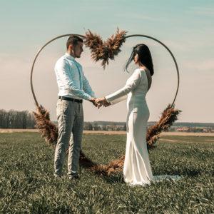 serce łuk ślubny