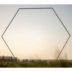 heksagon łuk ślubny sześciokąt 2,5m plener złoty